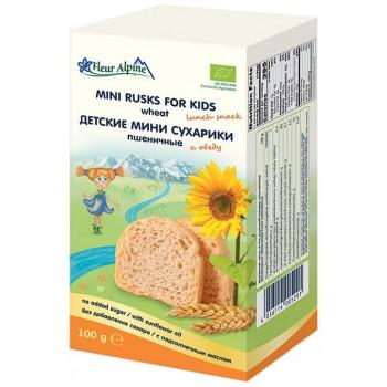 Fleur Alpine детские мини сухарики, пшеничные, 100гр (05291)