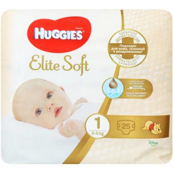 Huggies Elite Soft подгузники #1, 3-5 кг, 25шт (47923)