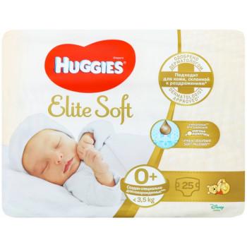Huggies Elite Soft подгузники #0, до 3,5 кг, 25шт (48005)