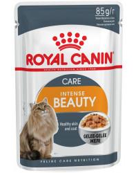 Royal Canin Intense Beauty корм пауч для кошек c проблемной шерстью, кусочки в желе, 85гр (11721)