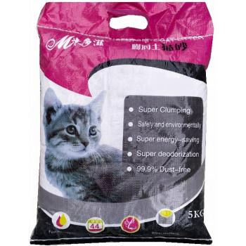 Mcat комкующийся наполнитель для кошачьих туалетов, кофе, 5кг (60097)