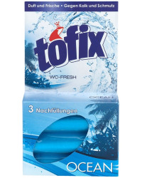 Tofix Ocean блок освежитель-очиститель, запаска на ободок унитаза, 3шт (17964)