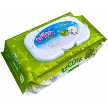 LaCute детские влажные салфетки, состоят из 99% воды, 60шт (32707)