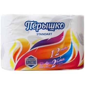 Пёрышко туалетная бумага, 12 рулонов, 2 слоя, 144 отрывов в рулоне (29635)