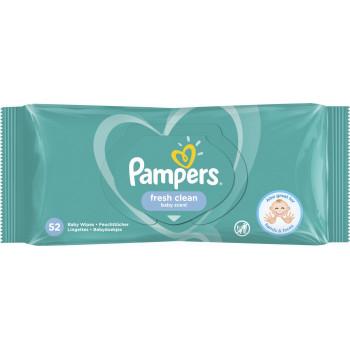 Pampers салфетки влажные, Fresh clean, 52шт (41360)