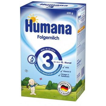 Humana сухая молочная смесь #3, с 10 месяцев, 600гр (82151)