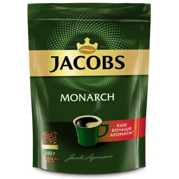 Jacobs Monarch кофе растворимый сублимированный, сашет 190гр (12081)