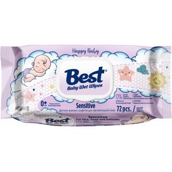 Best Sensitive детские влажные салфетки, 72шт (10084)