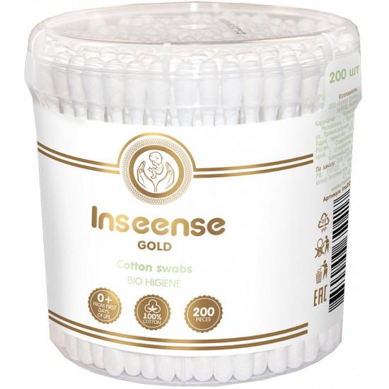 Inseense Gold ватные палочки, 200шт (50417)