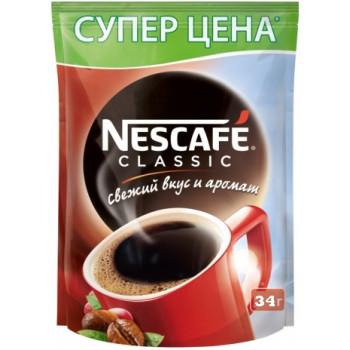 Nescafe Classic кофе растворимый гранулированный, сашет 34гр (07458)