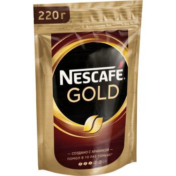 Nescafe Gold кофе растворимый сублимированный, сашет 220гр (08387)