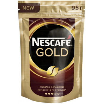 Nescafe Gold кофе растворимый сублимированный, сашет 95гр (00527)