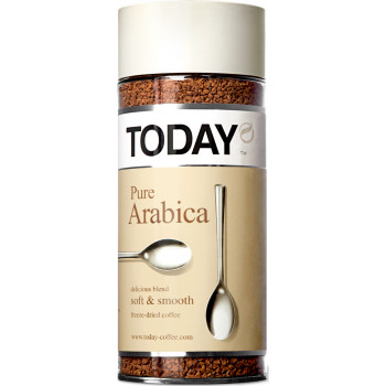 Today Pure Arabica кофе растворимый сублимированный, банка 95гр (02061)
