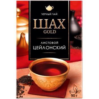 Шах Gold Цейлонский листовой чёрный чай, 90гр (12099)