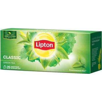 Lipton Classic зеленый чай, в пакетиках, 25шт (09863)