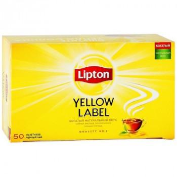 Lipton Yellow Label чёрный чай, в пакетиках, 50шт (00147)