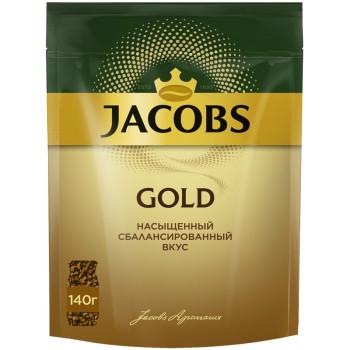 Jacobs Gold кофе растворимый сублимированный, сашет 140гр (77496)