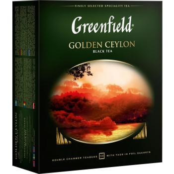 Greenfield Golden Ceylon чёрный чай, в пакетиках, 100шт (05817)
