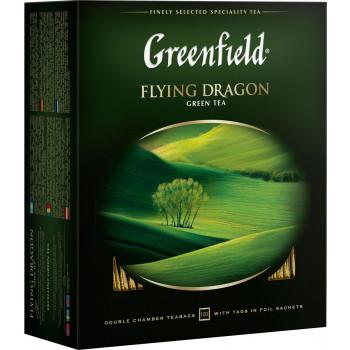 Greenfield Flying Dragon зелёный чай, в пакетиках, 100шт (05855)