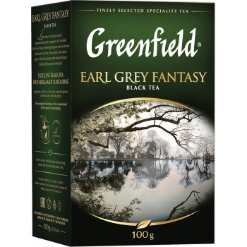 Greenfield Earl Grey Fantasy чёрный чай листовой с ароматом бергамота, 100гр (04261)