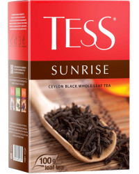 Tess Sunrise крупнолистовой цейлонский чёрный чай, 100гр (05879)