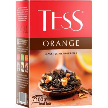 Tess Orange листовой чёрный чай с цедрой апельсина, 100гр (06463)