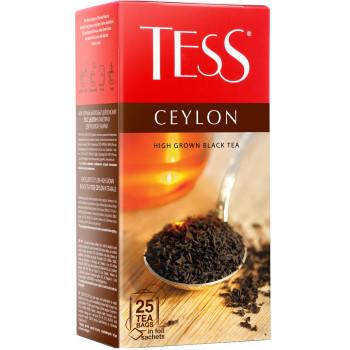 Tess Ceylon чёрный чай, в пакетиках, 25шт (06333)