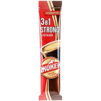 Жокей Strong кофе растворимый 3в1, пакетик 12гр (12945)