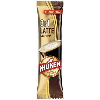 Жокей Latte кофе растворимый 3в1, пакетик 12гр (12976)