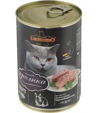 Leonardo корм для взрослых кошек, с кроликом, 400гр (56213)