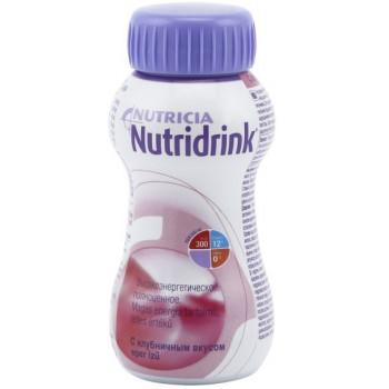 Nutridrink смесь, клубника, 200мл (54773)