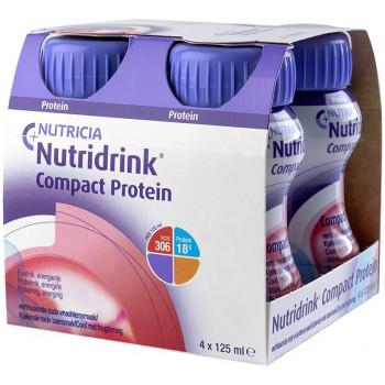 Nutridrink компакт протеин, охлаждающий фруктово-ягодный вкус, 4шт*125мл (76317)