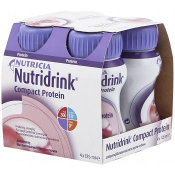 Nutridrink компакт протеин, клубника, 4шт*125мл (53905)