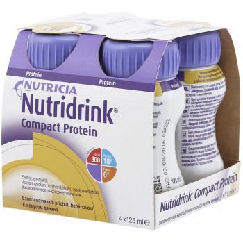 Nutridrink компакт протеин, банан, 4шт*125мл (54049)