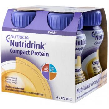 Nutridrink компакт протеин, имбирь и тропические фрукты, 4шт*125мл (74191)