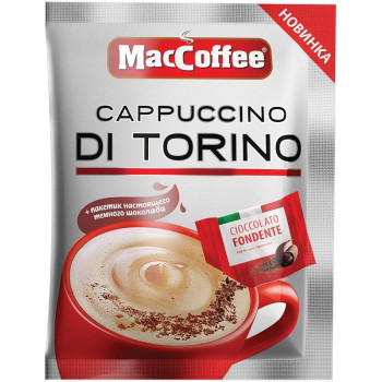 MacCofee Cappuccino Di Torino кофе растворимый, пакетик 25,5гр (02141)