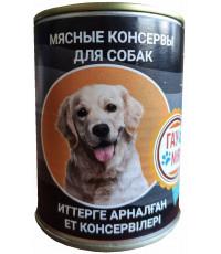 Гау Мяу корм для взрослых собак, мясные консервы, 400гр (16933)
