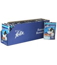 Felix корм пауч для взрослых кошек, форель в желе, коробка 85гр*24шт (63131)
