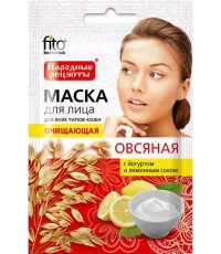 Fitoкосметик маска для лица, очищающая, овсяная, 1шт (99493)
