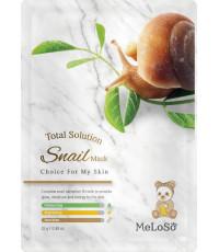 MeLoSo Snail тканевая маска для лица, с муцином улитки, 1шт (02637)
