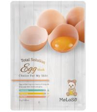 MeLoSo Egg тканевая маска для лица, с экстрактом яиц, 1шт (02576)