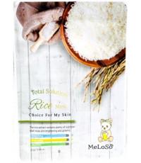 MeLoSo Rice тканевая маска для лица, с экстрактом риса, 1шт (03436)