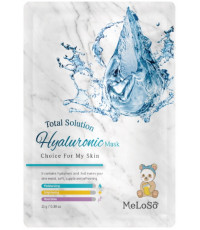 MeLoSo Hyaluronic тканевая маска для лица, с экстрактом гиалурона, 1шт (02613)
