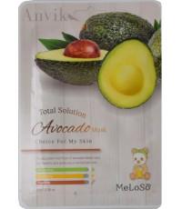 MeLoSo Avocado тканевая маска для лица, с экстрактом авокадо, 1шт (02569)