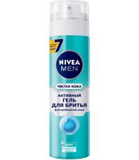 Nivea Men пена для бритья, активная, для проблемной кожи, 200мл (72377)