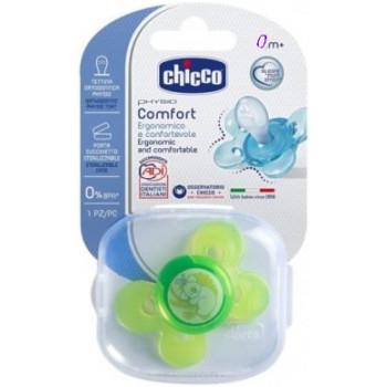 Chicco Physio Comfort пустышка, силикон, 0+ месяцев, 1шт (59331)