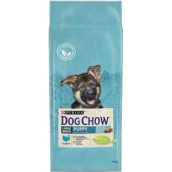 Dog Chow Puppy сухой корм для щенков крупных пород, с индейкой, 14кг (89432+)