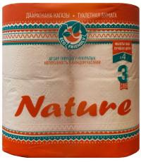 Nature туалетная бумага 4 рулона, 3 слоя (40427)