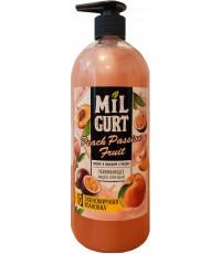 MiLGurt ухаживающее жидкое крем-мыло, персик и маракуйя в йогурте, 860мл (17622)