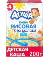 Агуша рисовая каша, без молока, с 4 месяцев, 200гр (33773)